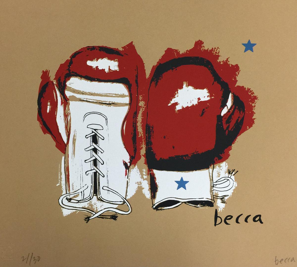 Becca ringside